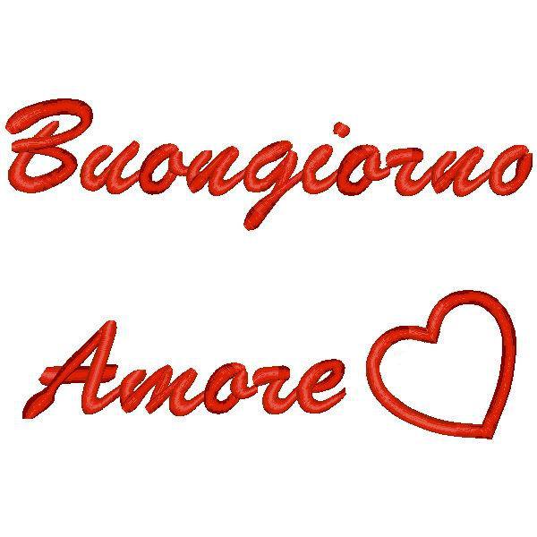 """spesso Ricamo con frase """"Buon giorno amore"""" - Quorino - Vendita online di  JS47"""