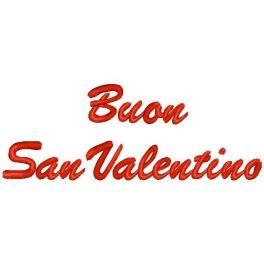 """Cuore con frase """"Buon San Valentino"""""""