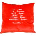 Cuscino con un solo lato personalizzato