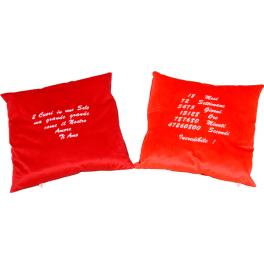 Cuscino con due lati personalizzati