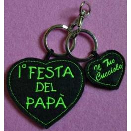 """Portachiavi """"1ª festa del papa'"""""""