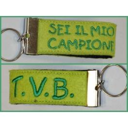 Portachiavi fascetta campione t.v.b.
