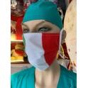 Mascherina lavabile Tricolore Italia con laccetti