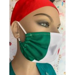 Mascherina lavabile Tricolore Italia con elastici