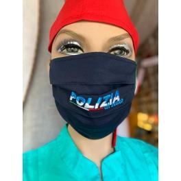"""Mascherina lavabile """"Polizia di Stato con laccetti"""