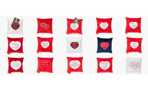 Cuscini con tasca cuore per foto
